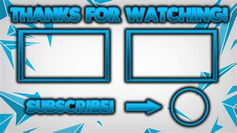 New End Screens And An Outro Youtube End Screen Template