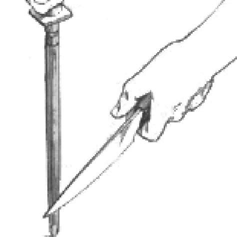 using a sharpening a better edge using a sharpening steel diy