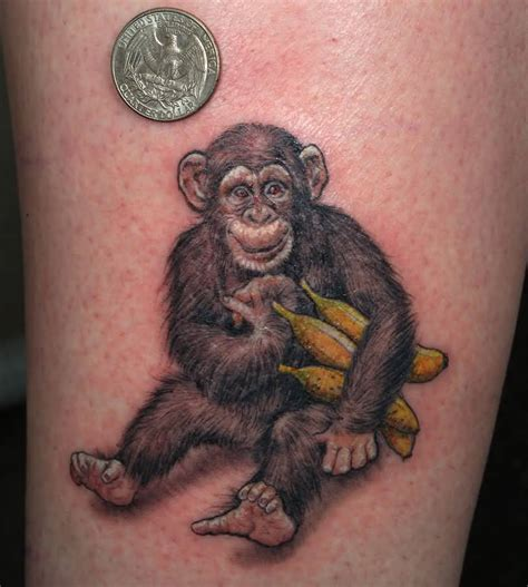 angry banana tattoo 45 amazing chimpanzee tattoos