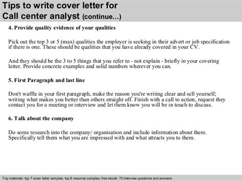 Letter Of Intent For Quality Analyst Sle Call Center Analyst Cover Letter