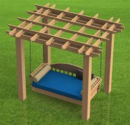 Free Woodworking Plans Patio Furniture hanging patio bed with pergola woodworking diy plans build it yourself ebay