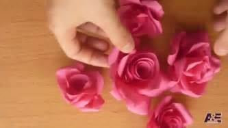 How To Make Paper Roses For - easy way to make a real from paper tutorial