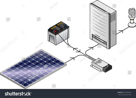 setup diagram a domestic household grid solar power