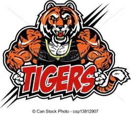 muscular mean tiger royalty free stock illustration