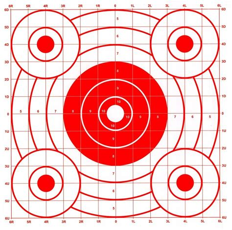 printable shooting targets uk red pistol rifle sighting in bullseye paper shooting