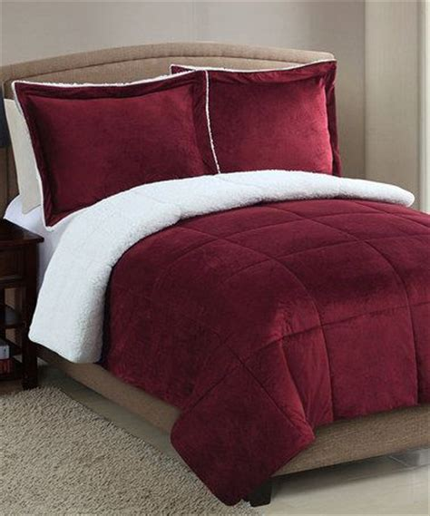 micro mink comforter red micro mink faux sherpa comforter set