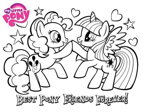 dibujos para colorear ya los mejores dibujos para dibujo de mejores pony amigas para siempre para colorear