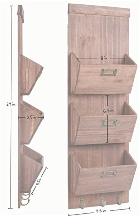 rustic wooden wall storage mail sorter letter organizer