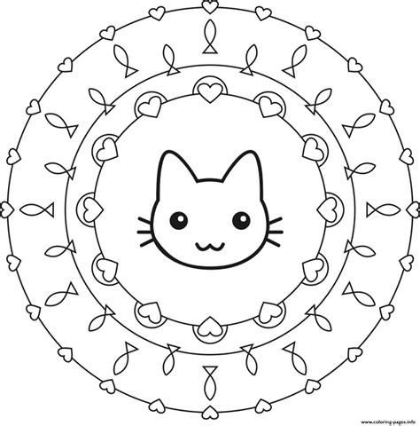cute mandala coloring pages cute cat mandala s170e coloring pages printable