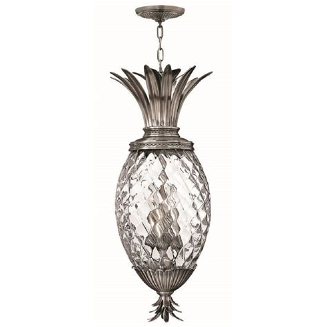 ceiling pendant light pineapple design with clear glass shade