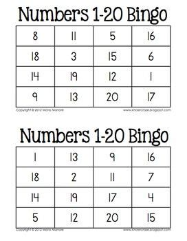 printable bingo cards with numbers 1 20 bingo numbers and the o jays on pinterest