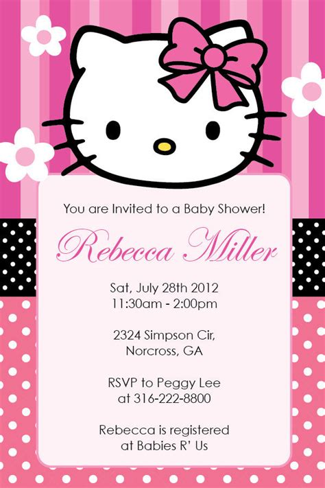 Hello Invitation Card Templates by Hello Birthday Or Baby Shower Custom