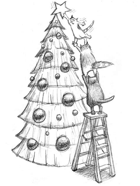 christmas tree | sketched out