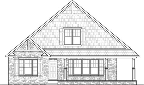 drawing of a house with garage stone cottage house floor plans 2 bedroom single story