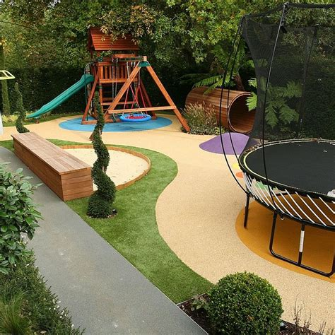 backyard ideas kids childrens play area garden design cr 233 che pinterest