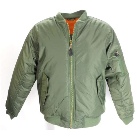 Arc Jaket Tad Green Scoot olive green flight ma1 bomber jacket army navy stores uk