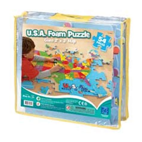 usa map floor puzzle foam usa foam map floor puzzle 54 pcs by educational insights