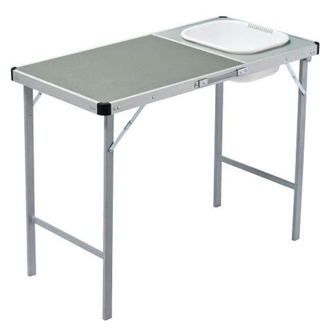camp table with sink portable kitchen oztrail coleman