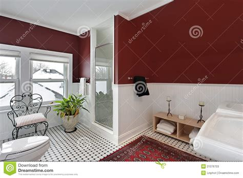 red wall bathroom bathroom with red walls stock photos image 21076703