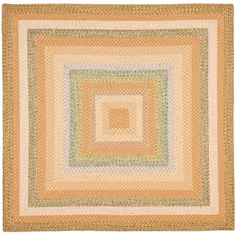 Safavieh Braided Tan Multi 8 Ft X 8 Ft Square Area Rug Square Rug