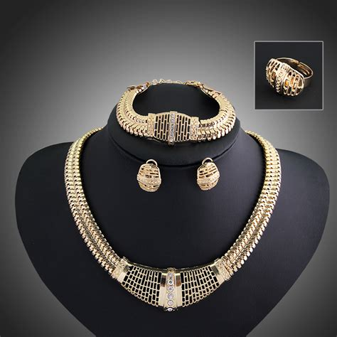 costume jewelry supplies africa jewelry sets fashion with gold plated