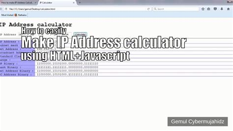 calculator using html how to easily make ip address calculator using html