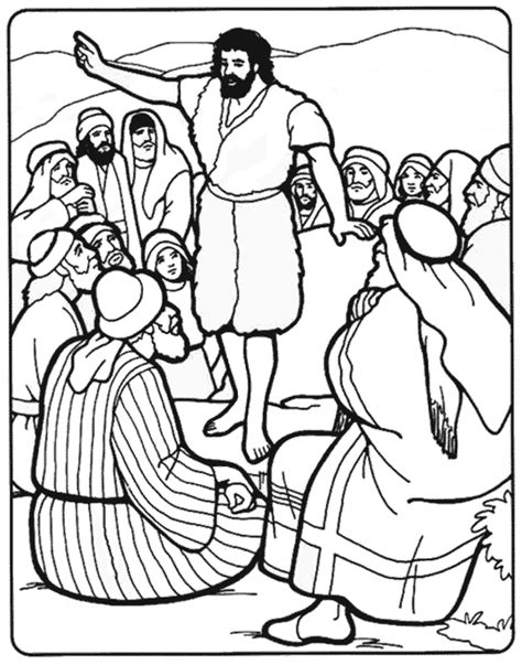 john the baptist coloring pages for preschoolers john the baptist coloring page sermons4kids