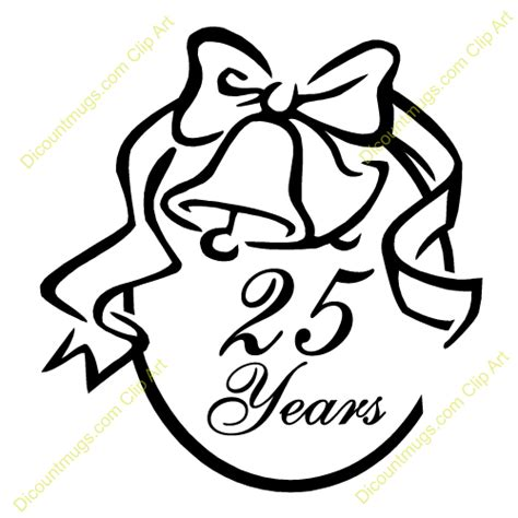 best 28 25 years clipart 25th wedding anniversary