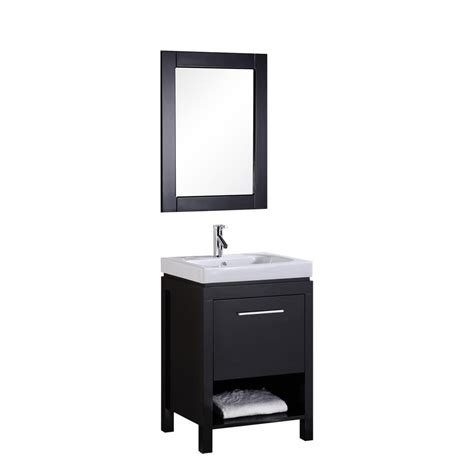 36 X 19 Bathroom Vanity Design Element Miami 36 In W X 19 In D Vanity In Espresso With Porcelain Vanity Top And Mirror
