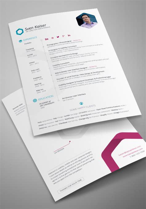 indesign resume template cv design tinydesignr