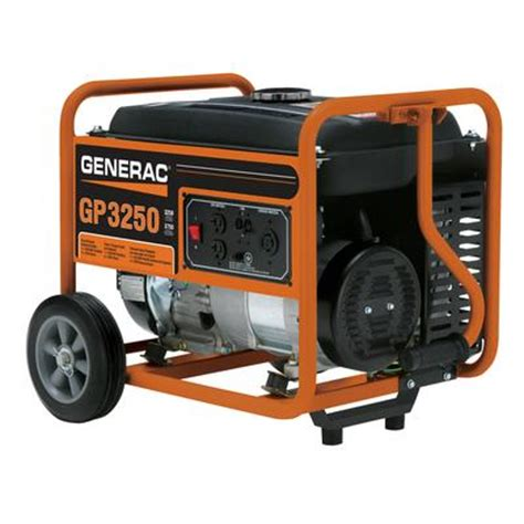 generac gp 3250 watt portable generator home depot