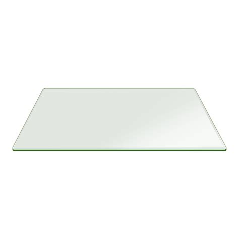 tempered glass table top rectangle 42 quot x78 quot rectangle glass table top 1 2 quot beveled