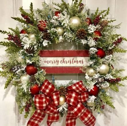 ideas rustic front door wreaths holidays door