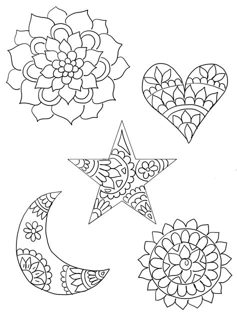 Shrinky Dink Printable Templates diy shrinky dink charms shrinky dinks crescents and mandala