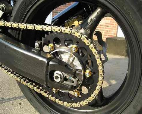 cadena de moto frenos cadena para moto dorada