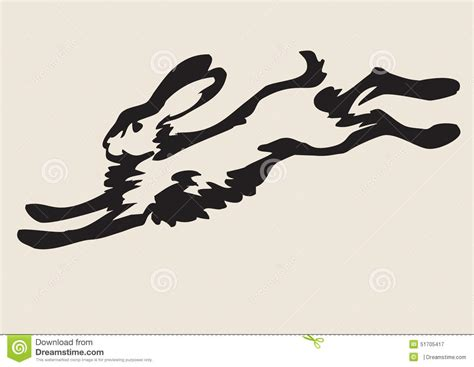 hare running drawing