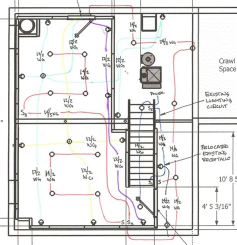basement electrical wiring diagram