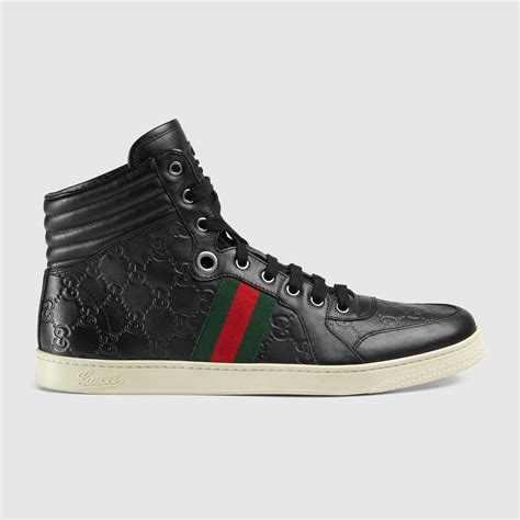 gucci guccissima leather high top sneaker
