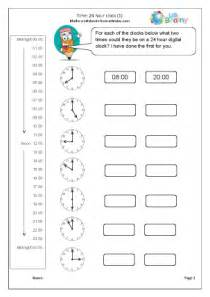 the 24 hour clock measuring and time maths worksheets for
