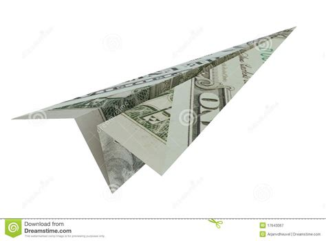 Dollar Bill Origami Airplane - dollar plane royalty free stock photography image 17643067