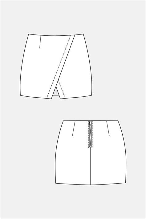 pattern for a line mini skirt named clothing 04 045 nascha mini skirt downloadable pattern