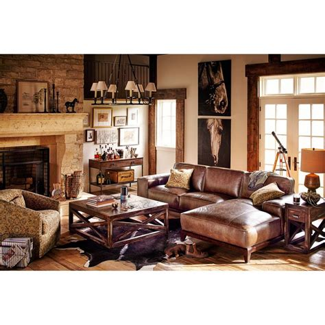 distressed leather living room furniture bourbon and tobacco the warm tobacco color really shows
