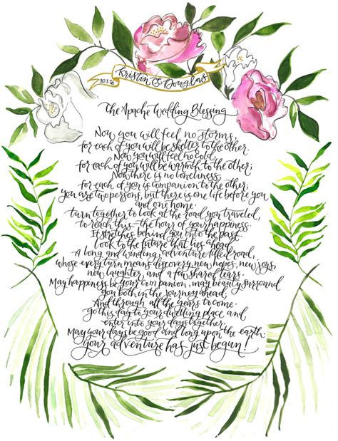 Apache Wedding Blessing by Vandall 187 Apache Wedding Blessing With Roses And Palm