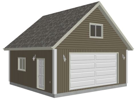 Free Garage Plans With Loft by G514 24 X 24 X 9 Loft Garage Plans In Pdf And Dwg Sds Plans