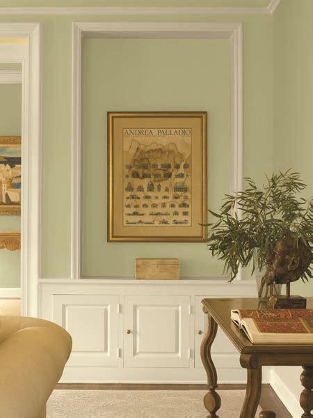 dunn edwards paints green paint color wall watercress de5528 trim cottage white dew318
