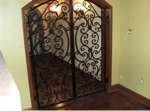 Rod Iron Handrail Wine Cellar Doors North Atlanta Steel Supply Llc