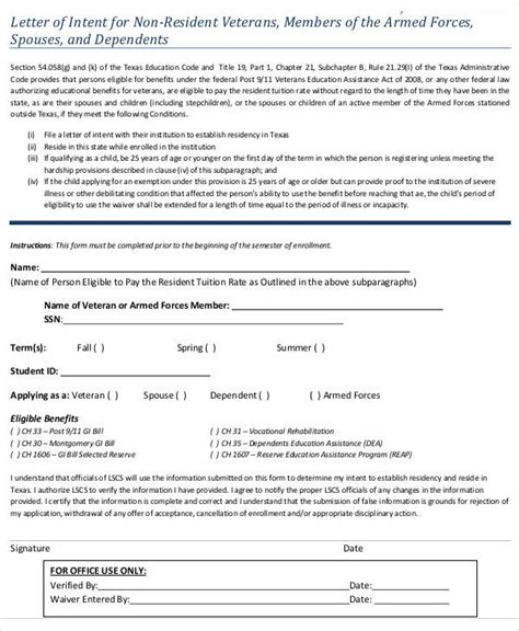 army letter of intent template army letter of intent template docoments ojazlink