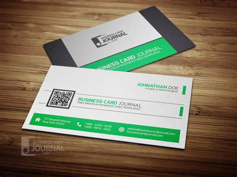 business card qr code template 40 best free psd business card templates webprecis