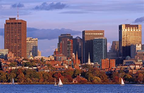 boston colors fall foliage colors across boston beacon hill photograph