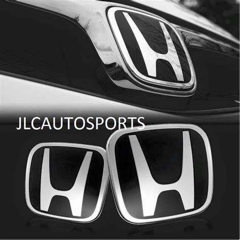 Jdm Emblem Honda Brio Original jdm black h emblem 06 15 honda civic 4dr sedan front and